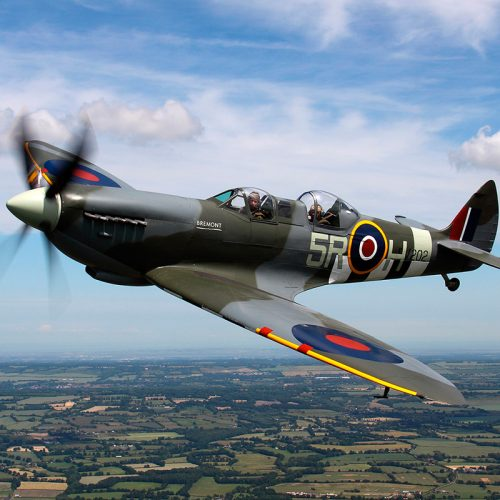 2 seated spitfire in flight