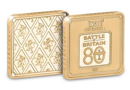 1g gold ingot battle of britain