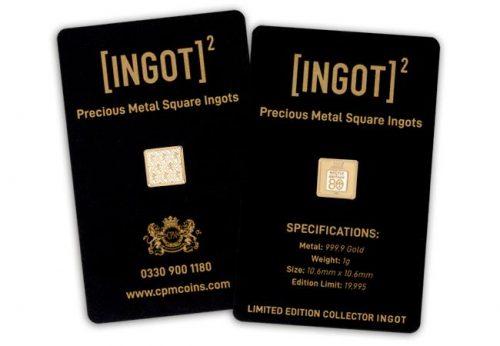 1g ingot square on card